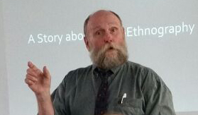 George Noblit in Edinburgh (photo by Siti)